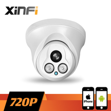 XINFI HD 1280*720P indoor dome camera network CCTV IP camera Surveillance Camera 1.0 MP P2P ONVIF 2.0 PC&Phone remote view