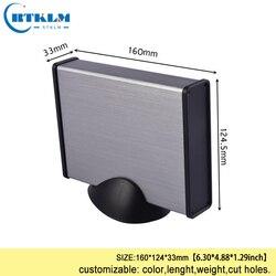 Aluminum enclosure diy metal box for electronic project Aluminum junction box power supply enclosure 160*124*33mm
