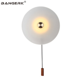 BANGERK Nordic Modern LED Wall Lamp Loft Style Sconce Wall Lights Bedside Pull Switch Home Decor Indoor Lighting Fixtures