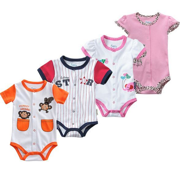e3d2839f8ca98 US $10.25 |Newborn Baby Clothes Cotton Short Sleeve Baby Rompers Newborn  Baby Girl Clothes Summer Animal Baby Costume Jumpsuit-in Rompers from  Mother ...