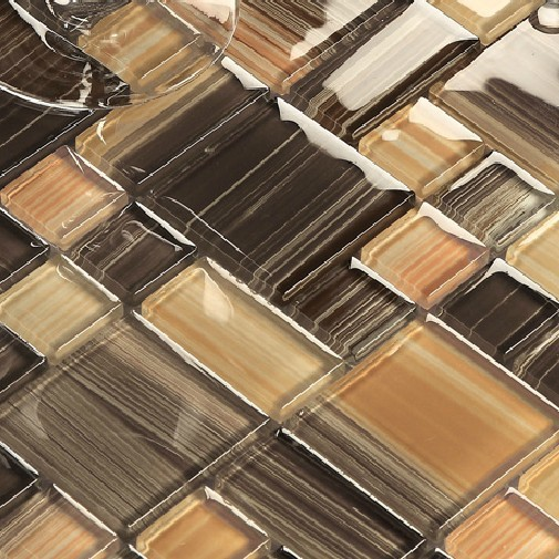 Glass tile kitchen backsplash bath wall tiles mosaic bath square ...