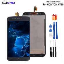 цена на Original For HOMTOM HT50 LCD Display Touch Screen Replacement For HOMTOM HT50 Screen LCD Display Phone Parts Free Tools