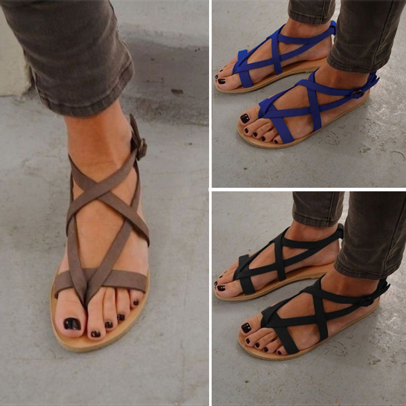 Women Sandals Soft Bottom Summer Shoes Gladiator Sandals Women Buckle Strap Casual Shoes For Woman Beach Sandalia Feminina 34-43 new women sandals low heel wedges summer casual single shoes woman sandal fashion soft sandals free shipping