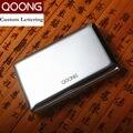 Qoong rfid tarjeta de viaje cartera de acero inoxidable hombres mujeres impermeable id de negocios titular de la tarjeta de crédito caso titular de la tarjeta de metal qz42-022