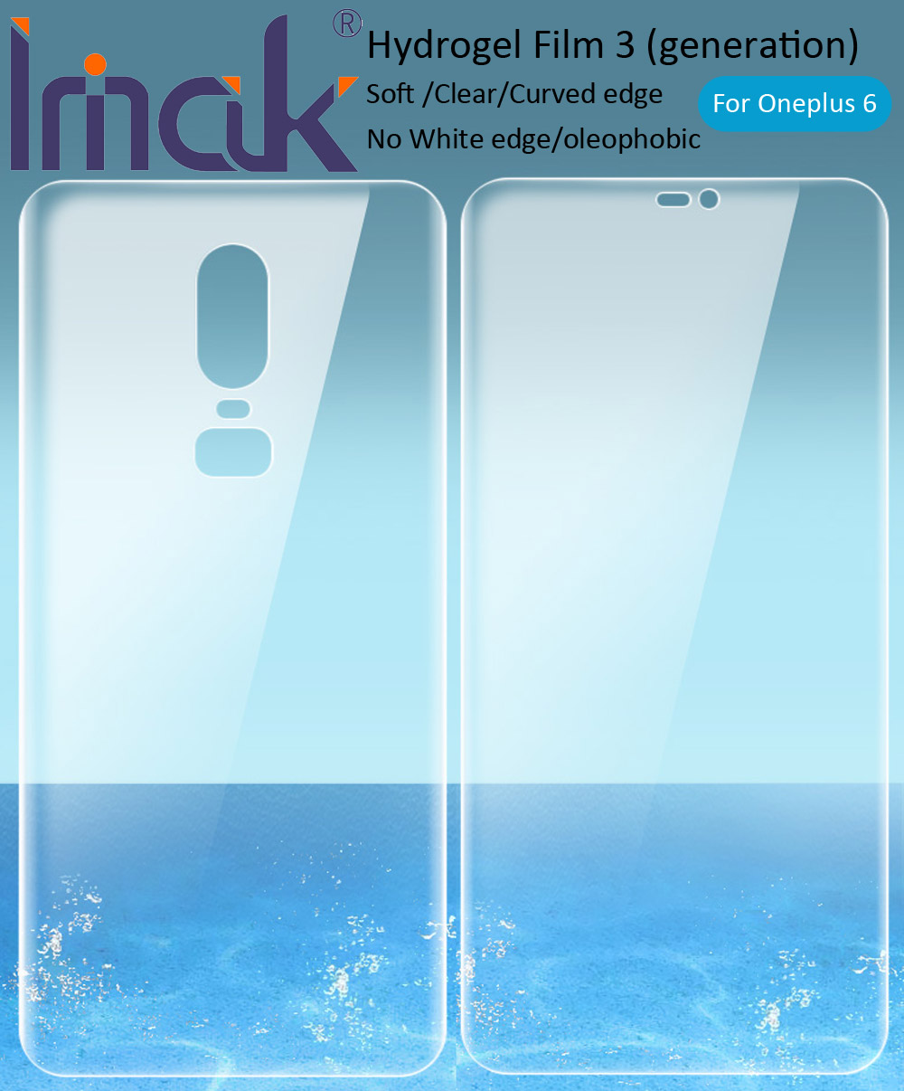 imak Hydrogel Film 3 III For Oneplus 7 Pro 6T 6 Rear Front Back Screen Protective Transparent oleophobic-in Phone Screen Protectors from Cellphones & Telecommunications on
