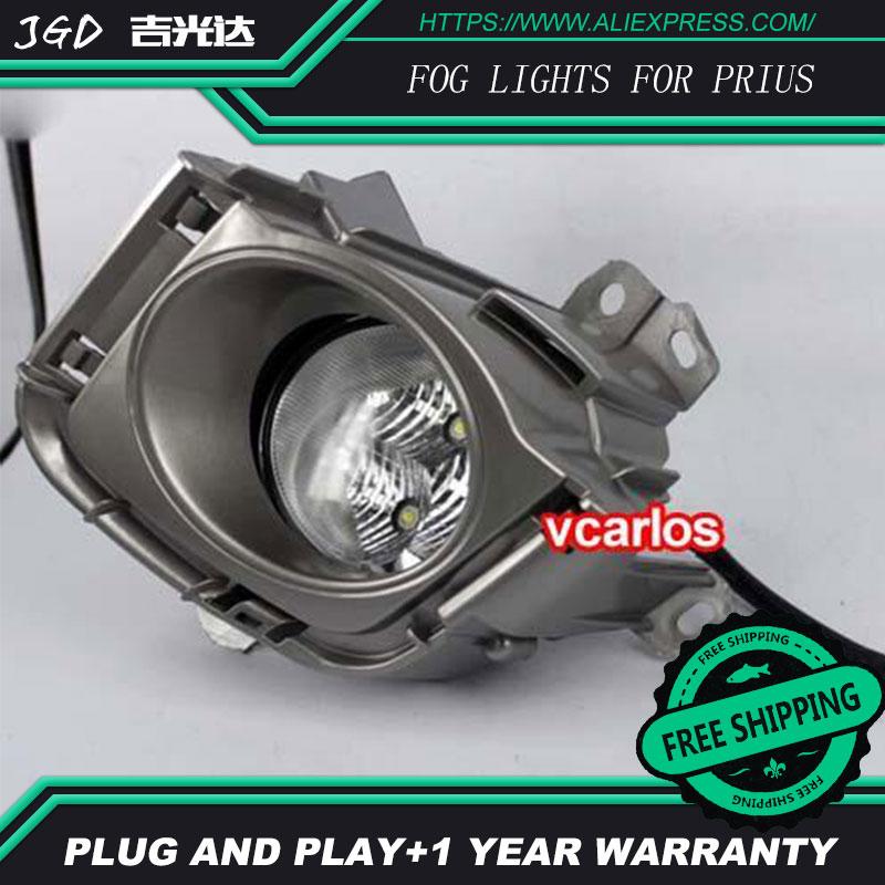 2шт/пара из светодиодов Противотуманные фары для Тойота Приус 2010 года мощности светодиодные Противотуманные фары авто DRL светодиодные фары освещения