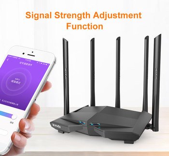 1200Mbps Wireless WiFi Router,1GHz CPU,1WAN+3LAN Gigabit Ports, 4*6 dBi wall-mounted antennas - AC10 1