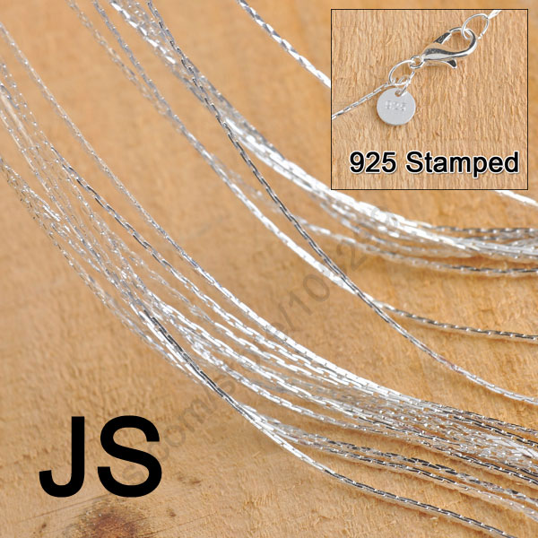 12 pcs 18 inch Sterling Silver 1.2mm Ball Chains Bead Necklaces Wholesale 925