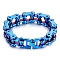 New Arrival Huge Heavy Bicycle Chain Bracelet For Men Blue Motorcyle Link Stainless Steel Bracelets Bangles Cool Biker Jewelry