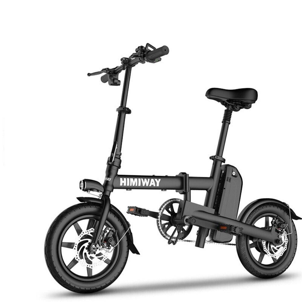 NANROBOT V9 14 pulgadas 250 W bicicleta eléctrica plegable extraíble 48 V 5,2 AH Batería de iones de litio para...