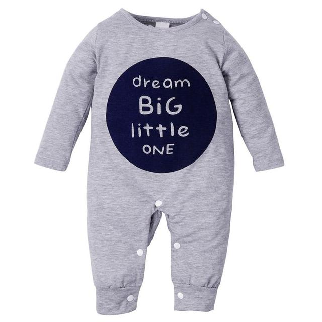 525cd994ecd Autumn Winter Baby Clothes Toddler Boys Girls Rompers One Piece Letter  Printed Long Sleeve Jumpsuit Kids Baby Outfits Clothing