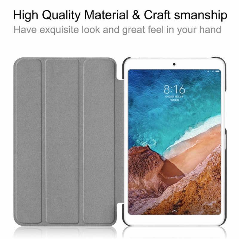 Funda de cuero PU con tapa para Xiaomi mi pad 4 Plus 10,1 2018 funda magnética para tableta inteligente para mi pad 4 Plus 10,1 pulgadas + película + lápiz óptico