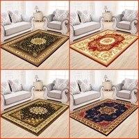 거실 용 페르시아 스타일 카펫 고급스러운 침실 러그와 카펫 클래식 터키 연구 층 매트 커피 테이블 영역 러그