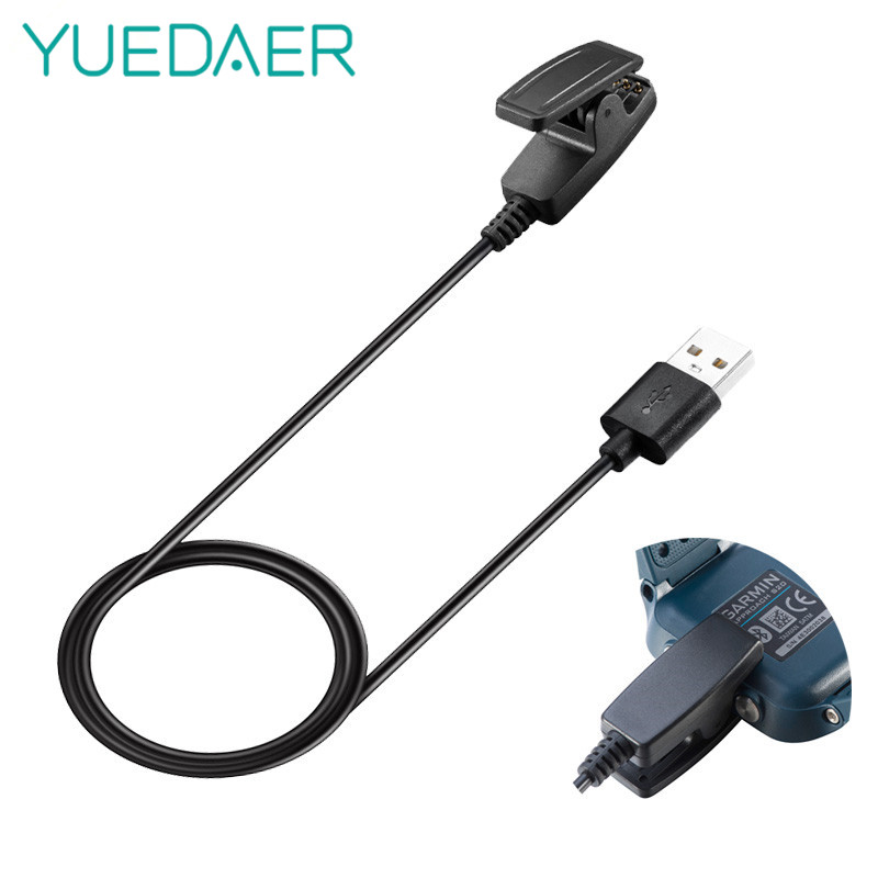 YUEDAER 1m Clip USB charger cable + Charing Dock For Garmin forerunner 735XT 230 235 630 Fast Charging cable Smart accessories