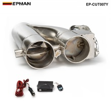 "Patented Product 2""/2.25"" / 2.5"" / 3"" Electric Exhaust Downpipe Cutout E Cut Out Dual Valve Controller Remote Kit EP CUT007Y"