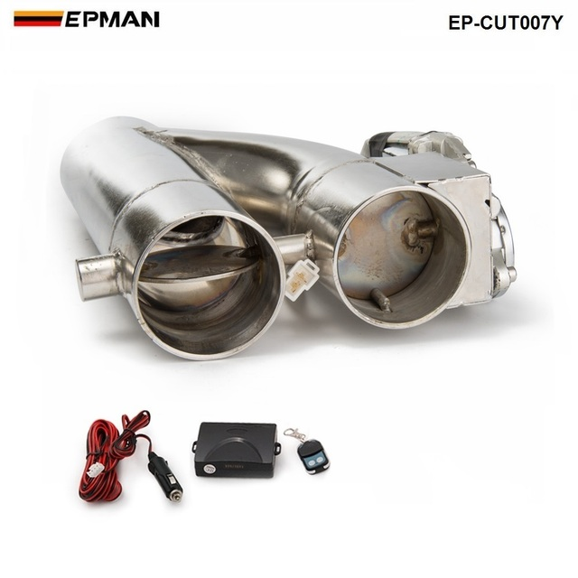 """Patented Product 2""""/2.25"""" / 2.5"""" / 3"""" Electric Exhaust Downpipe Cutout E Cut Out Dual Valve Controller Remote Kit EP CUT007Y"""