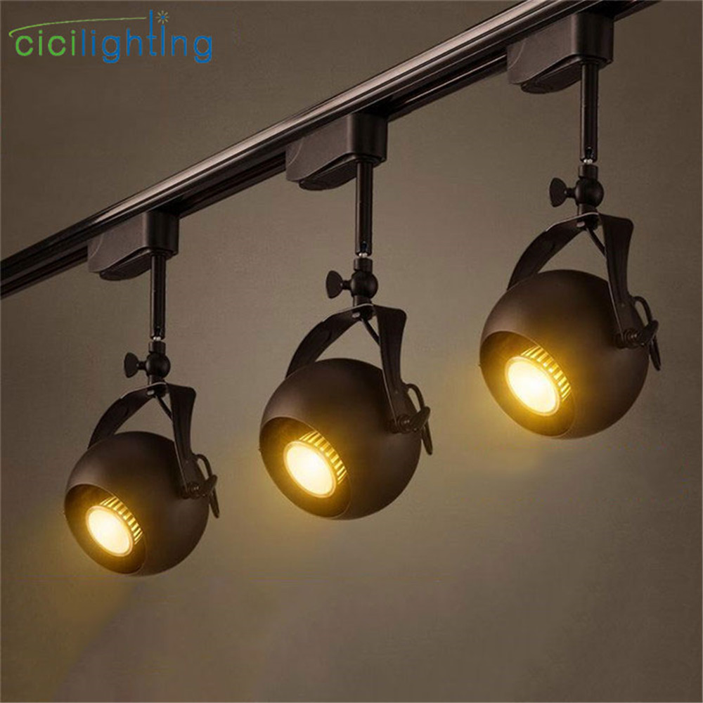 Black Track Lighting Kitchen: Black Cob Spotlights 5W LED Track Light Lamp KTV Bar