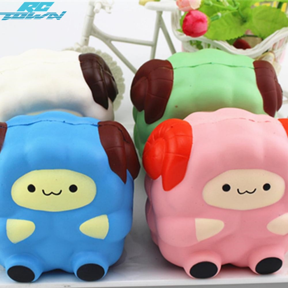 RCtown Simulate Cute Squeeze Toy Sheep Slow Rising Stress Reliever Toy Halloween Christmas Birthday Gift Ornament zk35