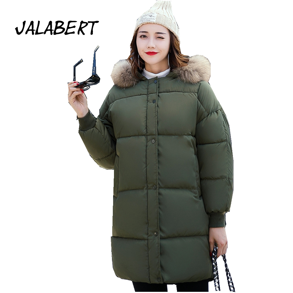 2017 new winter women long large size fat bread clothing ...
