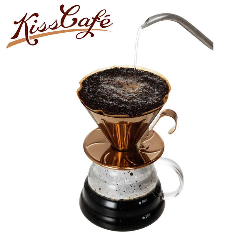 Goutteur tasse en acier inoxydable cafetière V60 café goutte à goutte café infuseur or/or Rose expresso filtres café accessoires