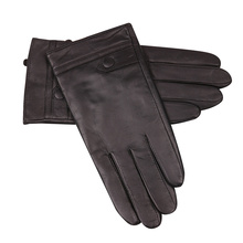 Black Touch Screen Leather Gloves Man Winter Keep Warm Plush Lined Thicken Windproof Non-Slip Sheepskin Gloves Male M18008NC стоимость
