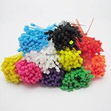 800 Unids/pack 8 Colores Envío Al Azar 3×100 Nylon Cable Tie Autoblocantes Plástico Bridas