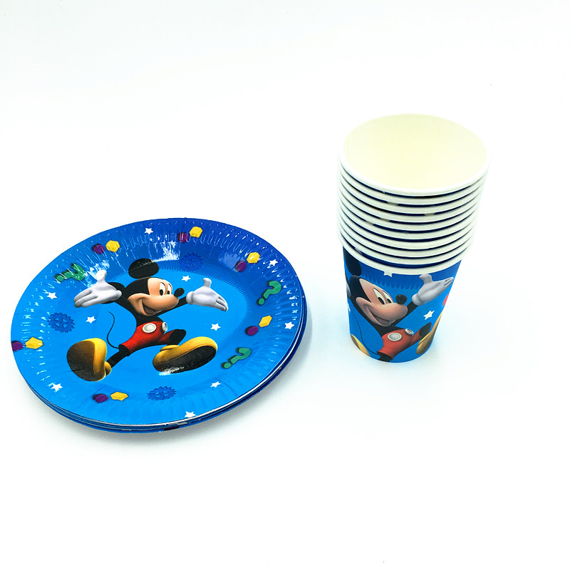 20pcs/lot mickey plates cups kids birthday party supplies mickey paper glass plates mickey mouse  sc 1 st  AliExpress.com & 20pcs/lot mickey plates cups kids birthday party supplies mickey ...