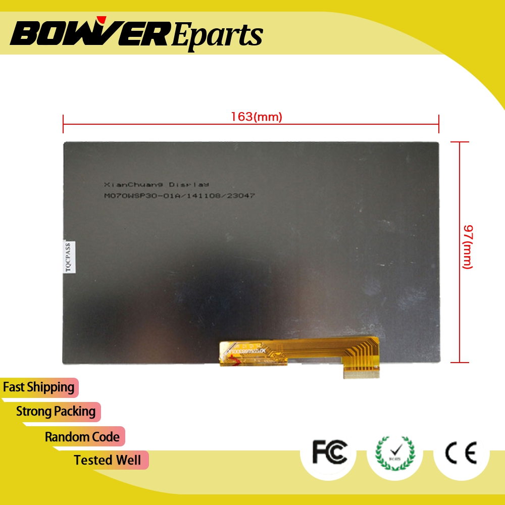 A+ 7'' inch irbis TX35 3G TABLET 30pins LCD Display Matrix 1024*600 TFT LCD Screen Panel replacement lcd display matrix 10 1 inch oysters t12v 3g digma optima 10 1 3g tt1040mg explay prime 1024 600 tft lcd screen