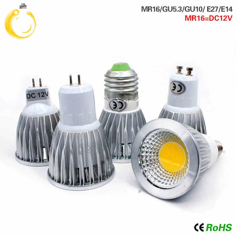 Самая низкая цена светодиодная лампа 9 Вт, 12 Вт, 15 Вт, светодиодные фонари E27 E14 GU10 GU5.3 220 V MR16 12 V Cob Светодиодная лампа теплого белого света холодный белый лампада led лампа