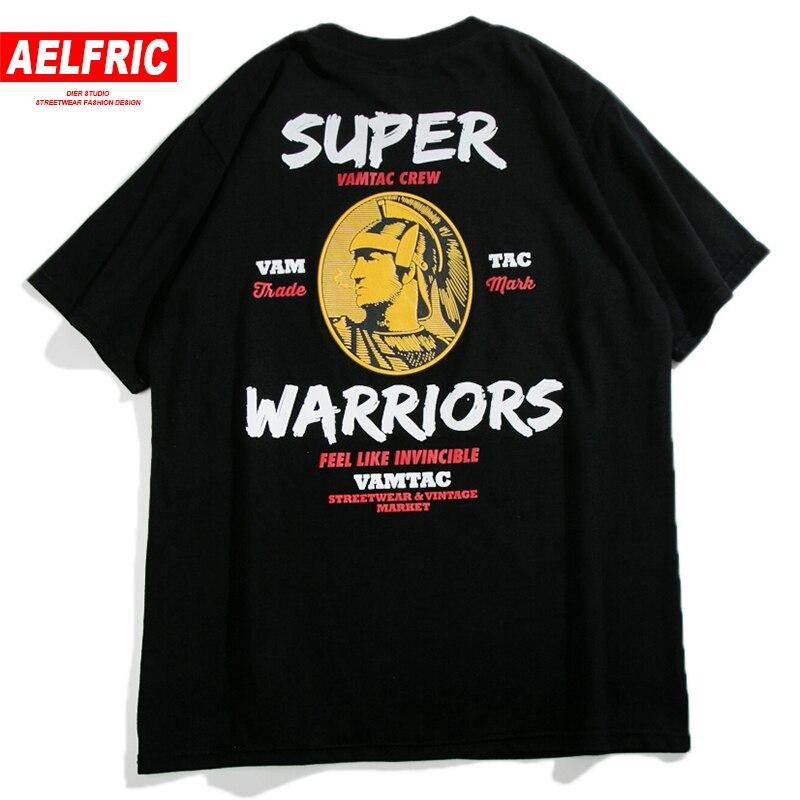 AELFRIC Brand 2018 Fashion T-shirts Hipster Character Funny Print Short Sleeve Men Urban Streetwear Cotton DJ Tee Shirts Mt04