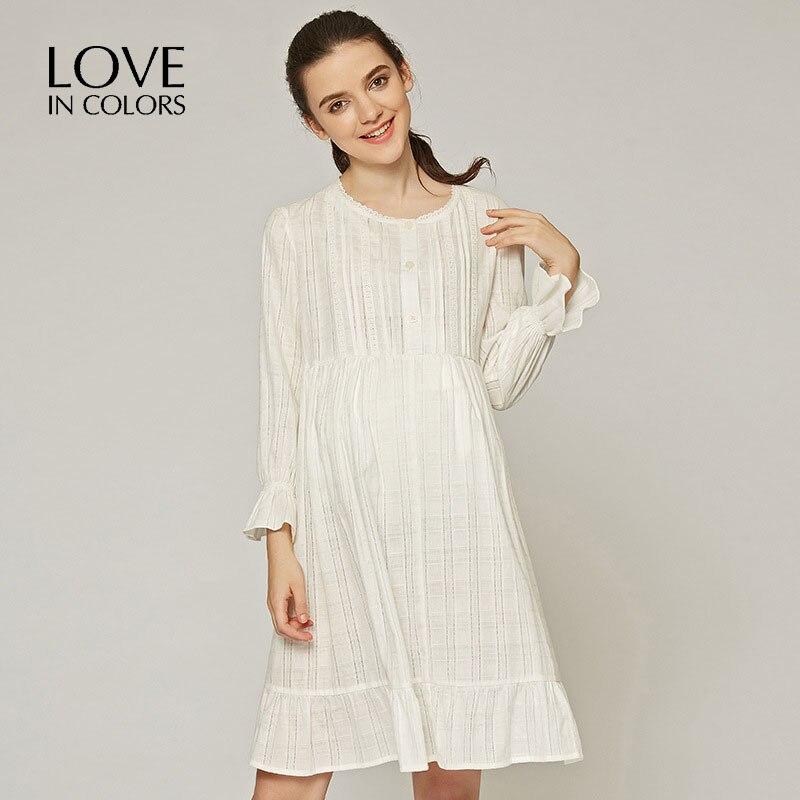 LoveInColors Maternity Dresses Pregnancy Long Sleeve Dress Pregnant Nursing Dress Causal Clothes For Pregnant Women недорго, оригинальная цена