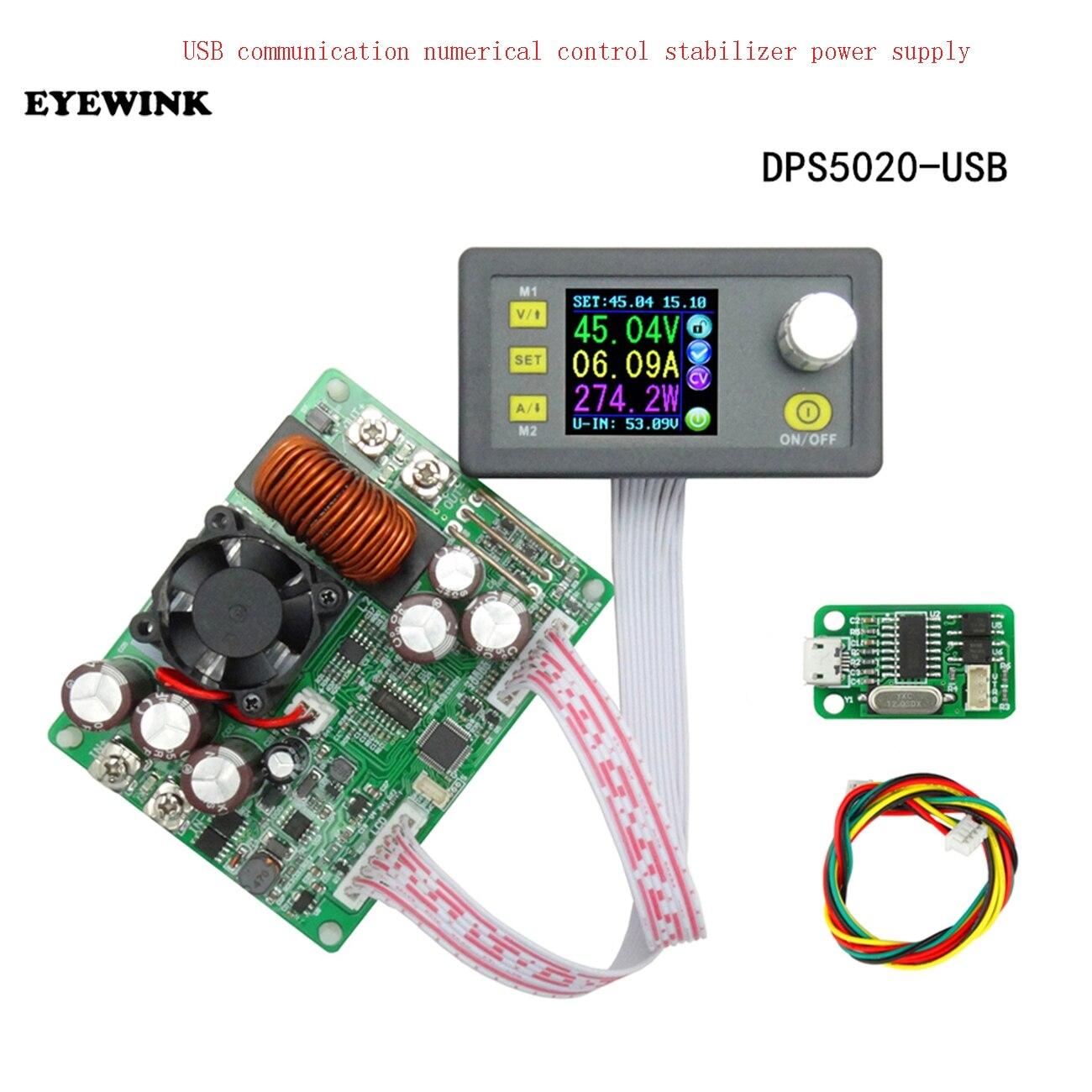DPS5020 Constant Voltage Current Step down Communication Digital Power Supply Buck Voltage Converter LCD Voltmeter 50V