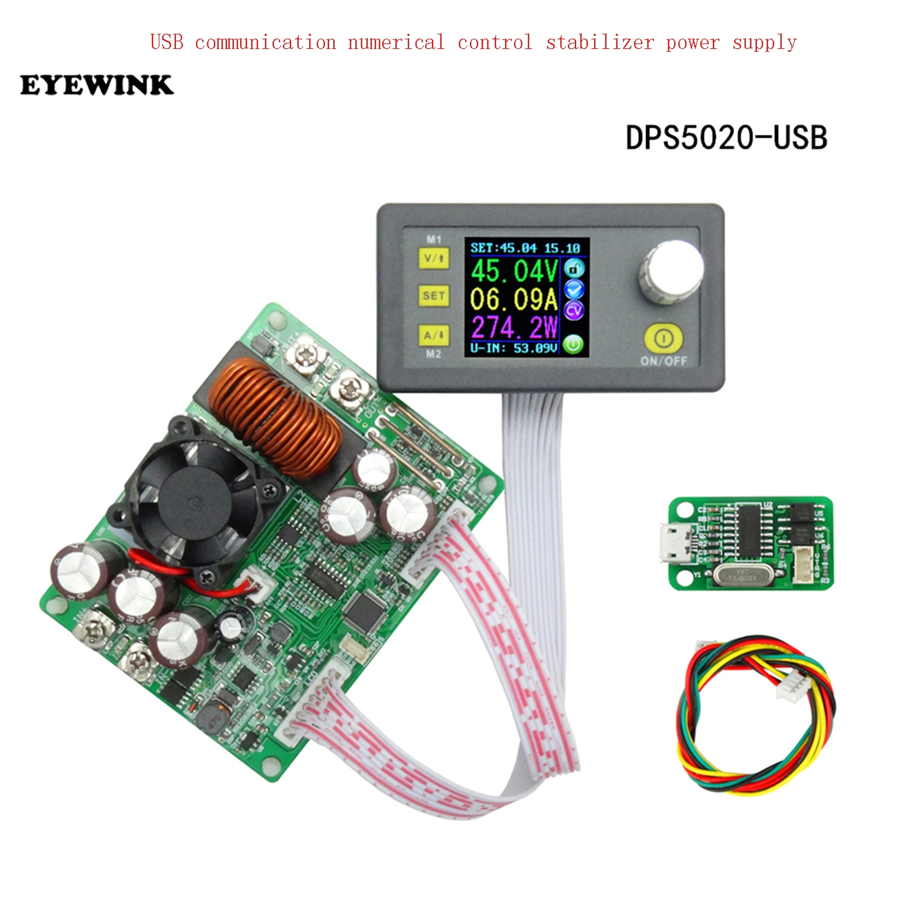 DPS5020 Constant Voltage Current Step down Communication Digital Power Supply Buck Voltage Converter LCD Voltmeter 50V 20A-in Integrated Circuits from Electronic Components & Supplies