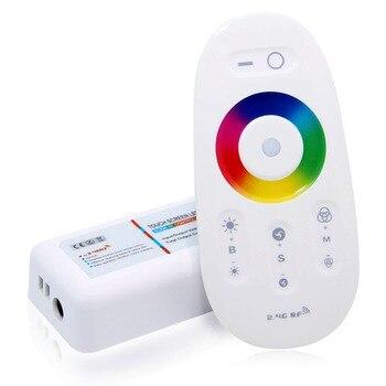 цена DC 12V 24V RGBW/RGB Led Controller 2.4G RF Touch Screen Remote Control 6A per Channel for SMD 5050 3528 5630 led strip Light онлайн в 2017 году