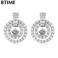 2015 Wholesale AAA Zircon Hollow Round Studs Earrings DIY Jewelry Findings Parts Accessories Crystals From Swarovski