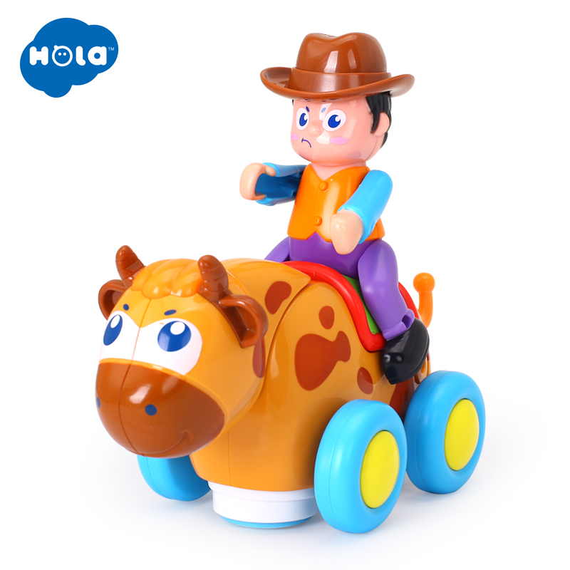 HUILE TOYS 838B Wild Bullfight Baby Toys Happy Racing  With Music & Lights Kids Crawl Styling Toy For Children 18 Month+