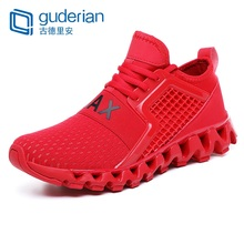 GUDERIAN New Mens Casual Shoes Fashion Krasovki Male Sneakers Breathable Lace-Up Trainers Men Zapatillas Hombre Verano