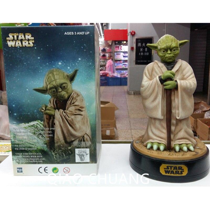 Anime Science Movies George Lucas Star Wars Luke Skywalker Master Master Yoda Saving Box Action PVC Figure Model Toy 30CM G292 star wars jedi knight master yoda pvc action figure collectible model toy doll gift 12cm kt2029