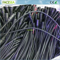 100pcs 30cm Wire Cable 2 Pin 5 5X2 1mm 12V DC Power Plug Female Jack Plug