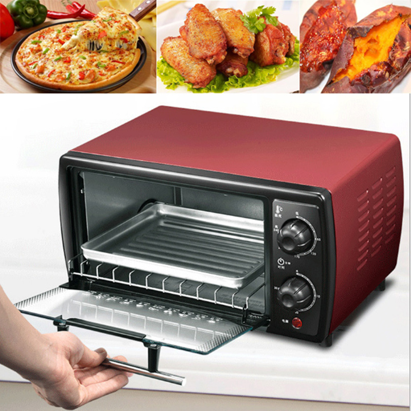 Mini 12L electric oven timing pizza oven stainless steel automatic Cake Makers for BakingMini 12L electric oven timing pizza oven stainless steel automatic Cake Makers for Baking