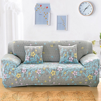 Grey Sofa Cover Flower Cubre Sofa Couch Cover Loveseat Cover Cubre Futon Slipcovers Sofa Tight Wrap Funda Sofa 2 Plazas 3 Seat