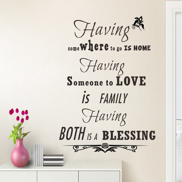 Blessings Home Decor: % Having Family Love Blessing Quotes Home Decor Vinyl Wall