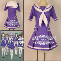 Free Shipping Cartoon Date A Live Role Play Costume Lovely Miku Lzayoi Cosplay Dress Japanese School