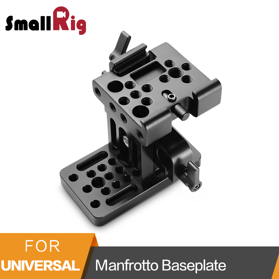 SmallRig Manfrotto Baseplate With 15mm Dual Rod Clamp for DSLR Camera Cage Rig Quick Release Plate Kit -1990 цена