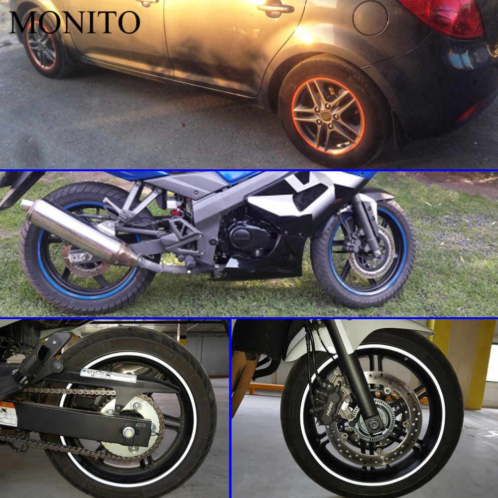 """オートバイホイールステッカー 16 """"17"""" 18 """"反射ステッカーリムテープストリップホンダ Hornet CB400 CB599 CB600 CBR650F CBF1000 VF750"""