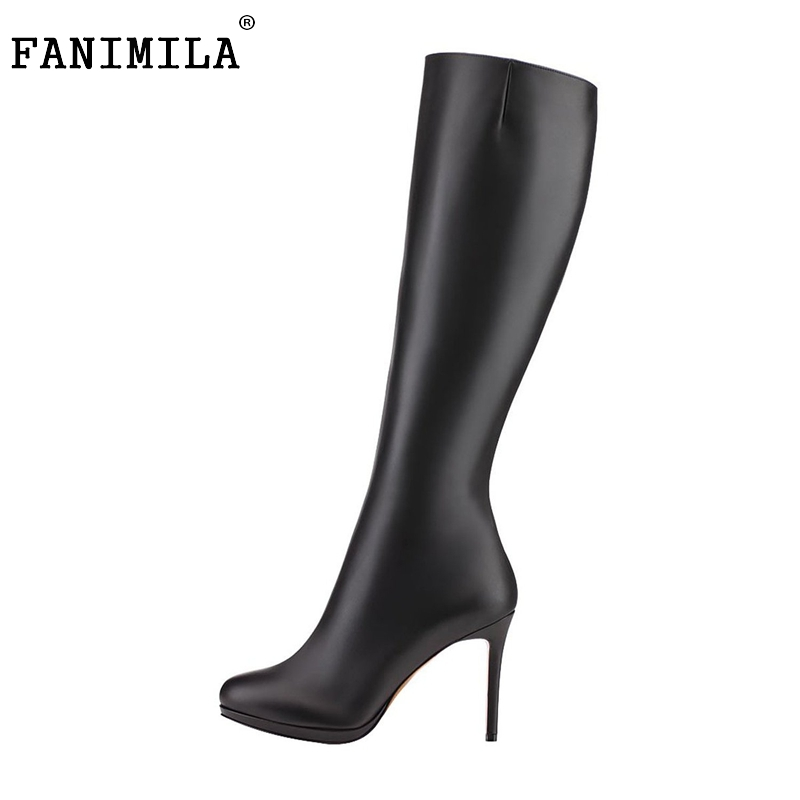 Women Mid-Calf Pointed Toe Boots Ladies Thin Heels Boots Brand Quality Heeled Shoes Woman Plus Size 35-46 B128 Customizable new 2017 spring summer women shoes pointed toe high quality brand fashion womens flats ladies plus size 41 sweet flock t179