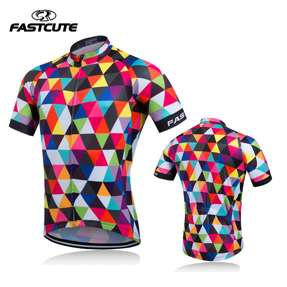 2018 Team Cycling Jersey Quick Dry Bike Bicycle Cycling Clothing Outdoor Sports Short Sleeve MTB Jersey Ciclismo Spot Sale