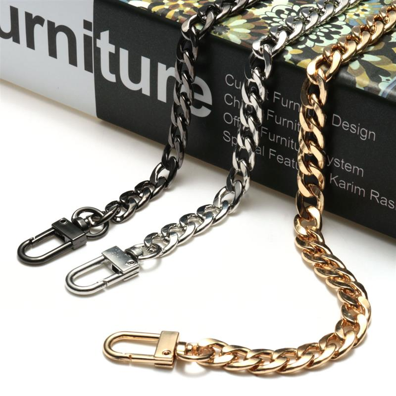 XINGMING High Quality 120cm Stainless Steel Purse Chain Strap Handle Shoulder Crossbody Handbag Bag Metal Replacement 3 Color