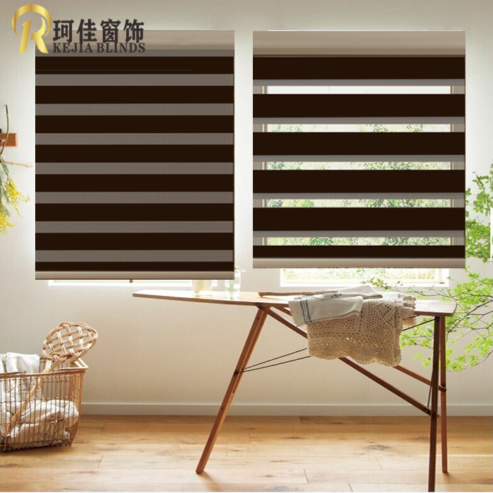 free shipping hot sale high quality window blackout roller blinds zebra blinds rainbow blind customized size