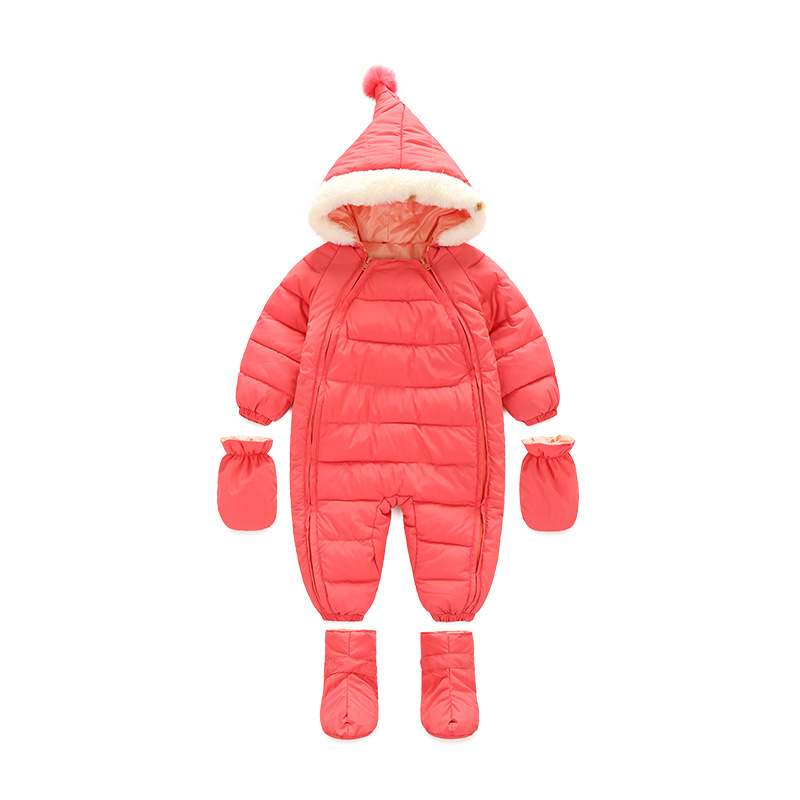 Boy Snowsuit Baby Overalls Winter Down Coveralls Baby Girls Overalls Newborn Winter Warm Jumpsuit Infant Clothing Kids Romper brands baby romper christmas baby snowsuit winter infant clothing fleece jumpsuit animal coveralls newborn baby boy girl clothes